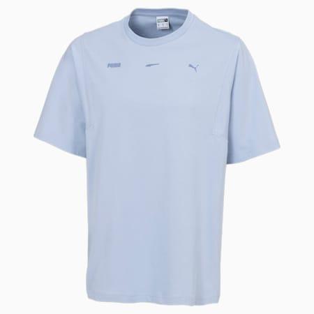 Boxy T-shirt voor heren, Brunnera Blue, small