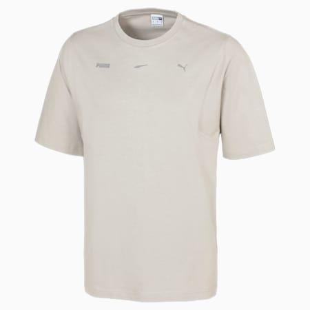 Boxy T-shirt voor heren, Flint Gray, small
