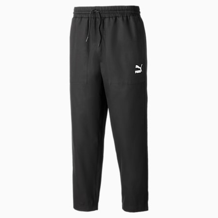 Tapered Woven Men's Chino Pants, Puma Black, small