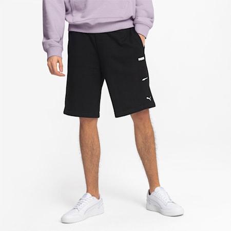 Knitted Men's Sweat Shorts, Puma Black, small