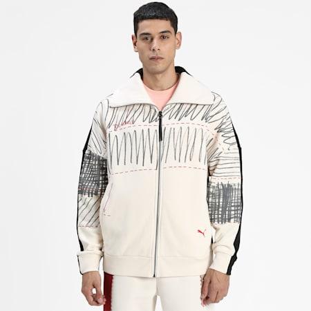 PUMA x MICHAEL LAU 2Face Men's Jacket, Eggnog, small-IND