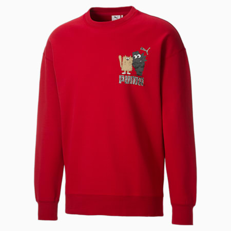 Sweat à col rond G PUMA x MICHAEL LAU homme, American Beauty, small