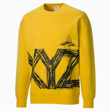 PUMA x MICHAEL LAU G Crew Neck Men's Sweater, Super Lemon, small