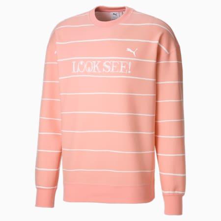 PUMA x MICHAEL LAU Printed Herren Sweatshirt mit Rundhalsausschnitt, Apricot Blush-AOP, small