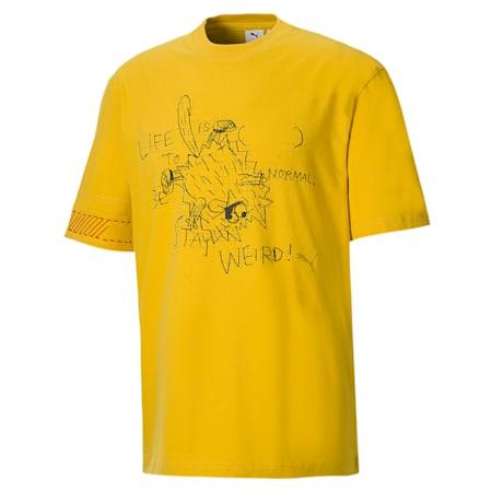 Męski T-shirt PUMA x MICHAEL LAU 2Sho, Super Lemon, small