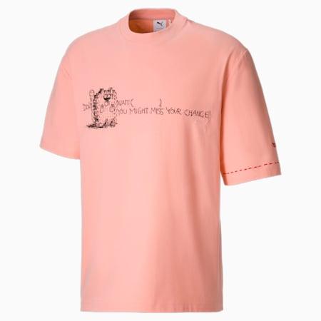 푸마 x 마이클 라우 투 롱 그래픽 티/PUMA x MICHAEL LAU 2Long Tee, Apricot Blush, small-KOR