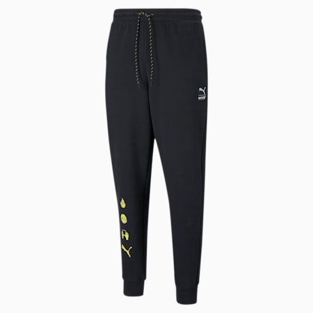 PUMA x EMOJI Men's Sweatpants, Puma Black, small