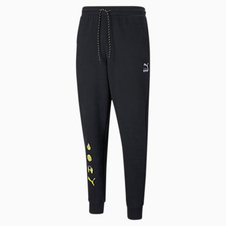 PUMA x EMOJI Men's Sweatpants, Puma Black, small-SEA