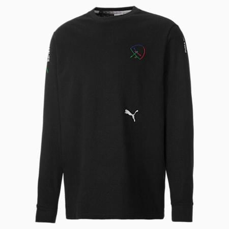 Camiseta de manga larga PUMA x Felipe Pantone para hombre, Puma Black, small