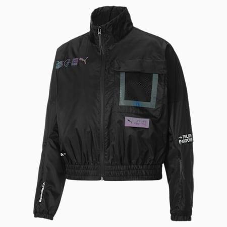 PUMA x Felipe Pantone Women's Jacket, Puma Black, small-GBR