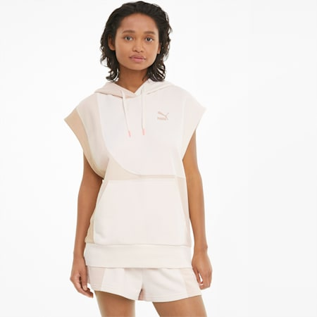 Convey mouwloze hoodie dames, Brush, small
