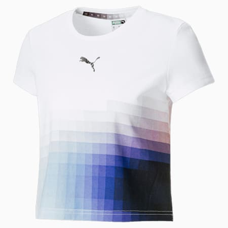 Camiseta de talle corto PUMA x Felipe Pantone para mujer, Puma White, small
