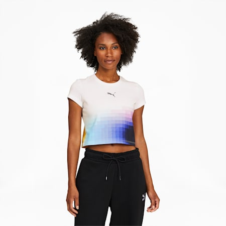 Camiseta corta PUMA x FELIPE PANTONEpara mujer, Puma White, pequeño