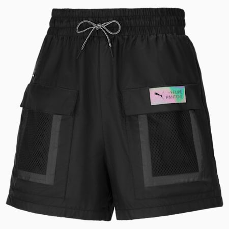 Shorts PUMA x Felipe Pantone para mujer, Puma Black, small