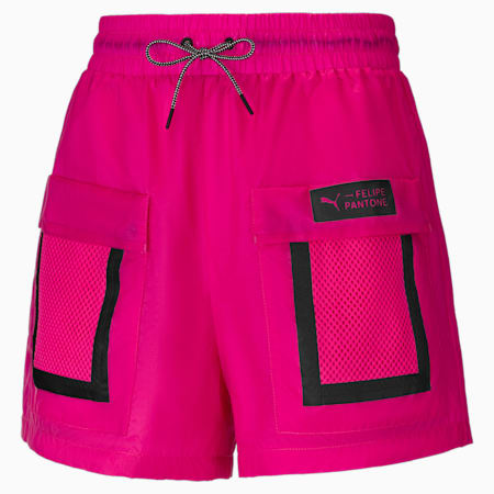 PUMA x Felipe Pantone Women's Shorts, Magenta, small-GBR