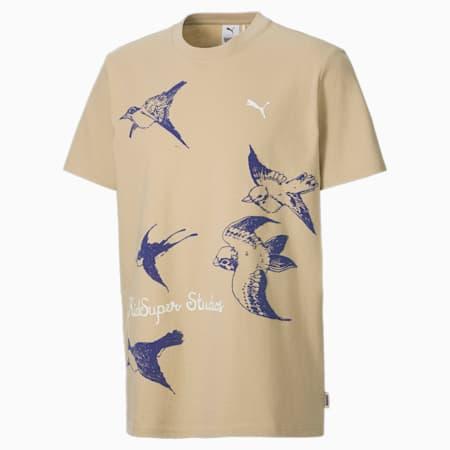 PUMA x KidSuper Men's Relaxed T-shirt, Pale Khaki, small-IND