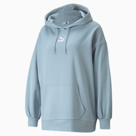 Classics Oversized Women's Loose Hoodie, Blue Fog, small-IND