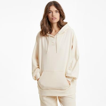 Sudadera con capucha extragrandeClassics para mujer, sin color, pequeño