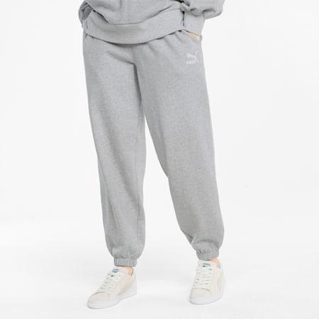 Pantalones deportivos de corte holgado Classics para mujer, Light Gray Heather, small