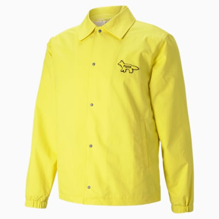 PUMA x MAISON KITSUNÉ Unisex Coach Jacket, Lemon Chrome, small-SEA