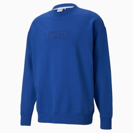PUMA x MAISON KITSUNÉ Unisex Sweatshirt mit Rundhalsausschnitt, Surf The Web, small