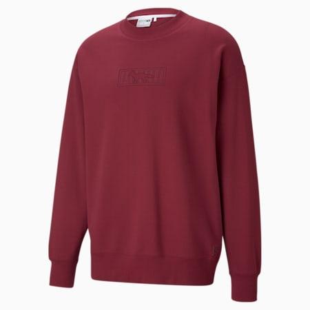 PUMA x MAISON KITSUNÉ Unisex Sweatshirt mit Rundhalsausschnitt, Rhododendron, small