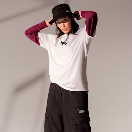 PUMA x MAISON KITSUNÉ Unisex Oversized T-Shirt, Puma White, small