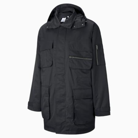 PUMA x MAISON KITSUNÉ Men's Military Jacket, Puma Black, small-GBR