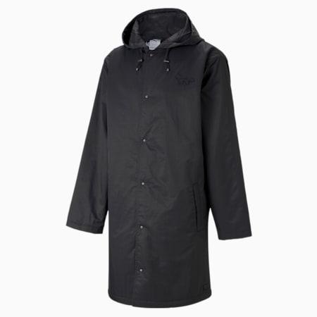 PUMA x MAISON KITSUNÉ Unisex Hooded Long Jacket, Puma Black, small-GBR