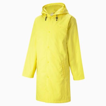 PUMA x MAISON KITSUNÉ Unisex Hooded Long Jacket, Lemon Chrome, small-GBR