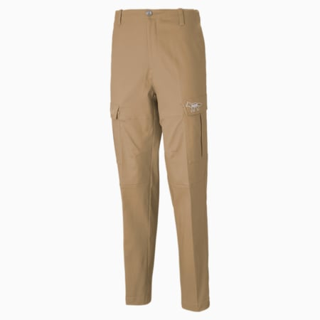 PUMA x MAISON KITSUNÉ Men's Cargo Pants, Travertine, small-GBR