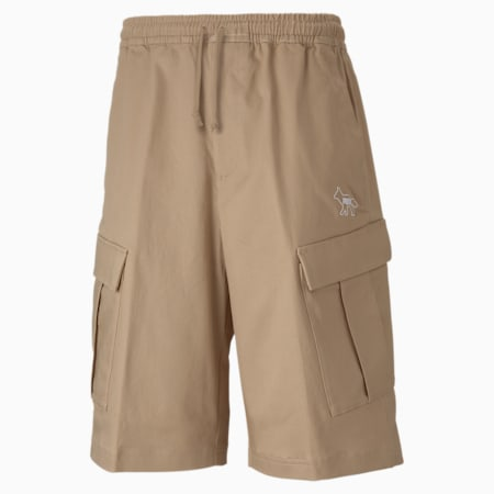 PUMA x MAISON KITSUNÉ Men's Cargo Shorts, Travertine, small