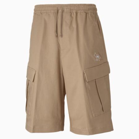 Shorts cargo PUMA x MAISON KITSUNÉ uomo, Travertine, small