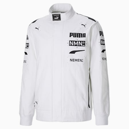 Giacca con zip integrale PUMA x NEMEN Racing uomo, Puma White, small