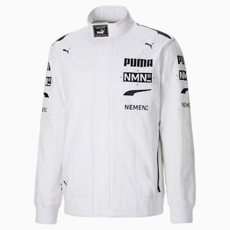 Męska bluza PUMA x NEMEN Racing z zamkiem na całej długości, Puma White, small