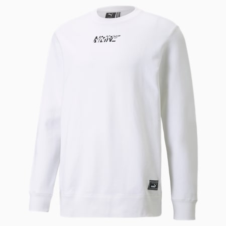 PUMA x NMN Crew Neck Men's Sweatshirt, Puma White, small