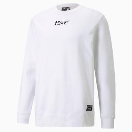 PUMA x NMN Herren Sweatshirt mit Rundhalsausschnitt, Puma White, small