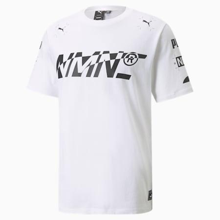 PUMA x NMN Elevated T-shirt heren, Puma White, small