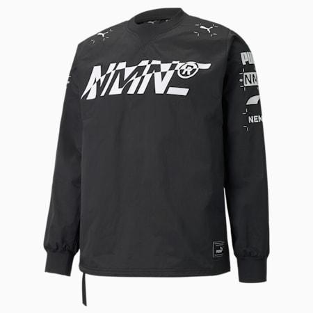 PUMA x NEMEN Tech sweatshirt met ronde hals heren, Puma Black, small