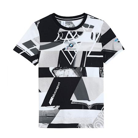 BMW M Motorsport Printed Kid's  Street  T-shirt, Puma Black, small-IND