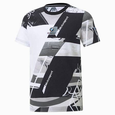 T-shirt BMW M Motorsport Street AOP, enfant, Puma Black, petit