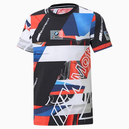 T-shirt BMW M Motorsport Street AOP, enfant, Marina-bleu ferro-rouge risque élevé, petit