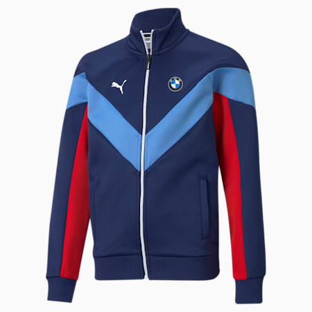 BMW M Motorsport MCS Youth Track Jacket, M Colors, small
