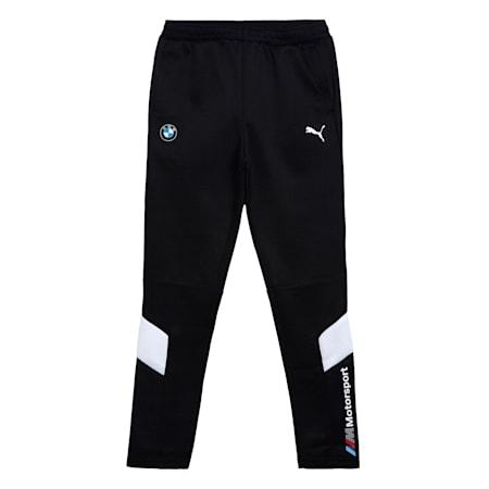 BMW M Motorsport MCS Youth Track Pants, Puma Black, small-IND