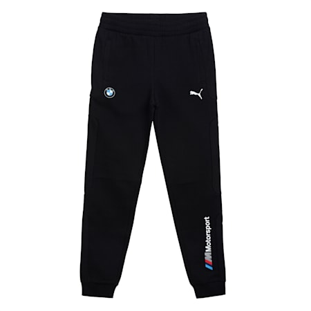BMW M Motorsport Youth Sweatpants, Puma Black, small-IND