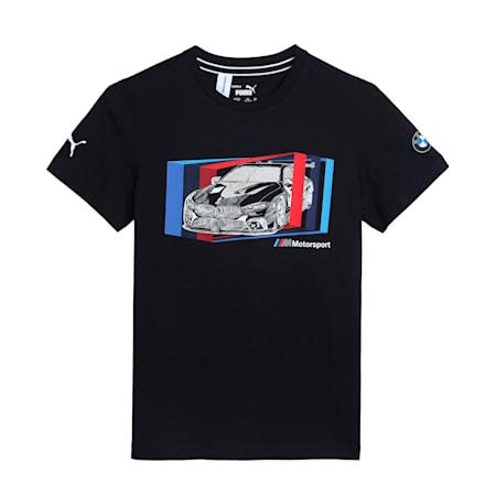 BMW M Motorsport Car Graphic Kid's   T-shirt, Puma Black, small-IND