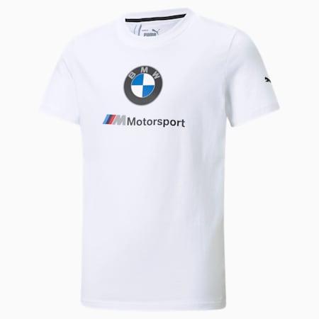 BMW M Motorsport Essentials Youth Tee, Puma White, small-GBR