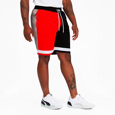 RS-B Men's Mesh Shorts, Puma Black-Fiery Red, small