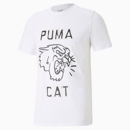 バスケットボール フランチャイズ グラフィック 半袖 Tシャツ, Puma White, small-JPN