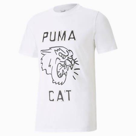 Franchise Graphic Men's Basketball Tee, Puma White, small-SEA